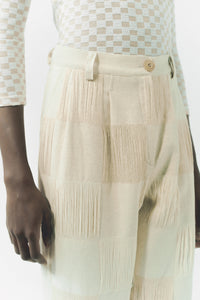 Woven cotton trousers
