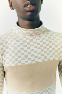 BODYWEAR turtleneck checkboard
