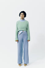 Load image into Gallery viewer, CREASED CORDUROY trousers BLUE