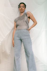 GAUZE pants GRAY