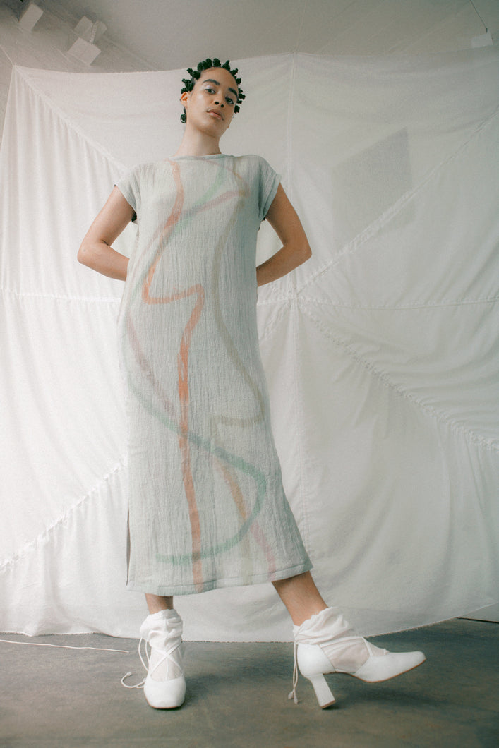 GAUZE / silk long dress