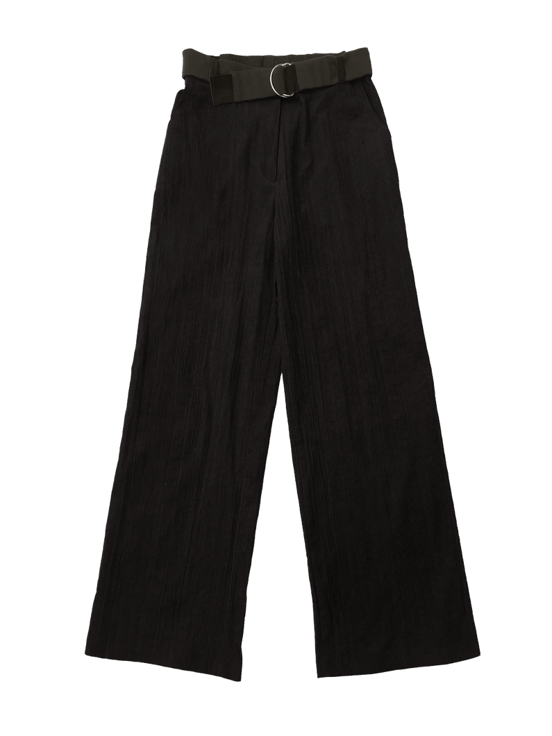 CREASED CORDUROY trousers BLACK