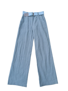 CREASED CORDUROY trousers BLUE