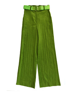 CREASED CORDUROY trousers GRASS GREEN