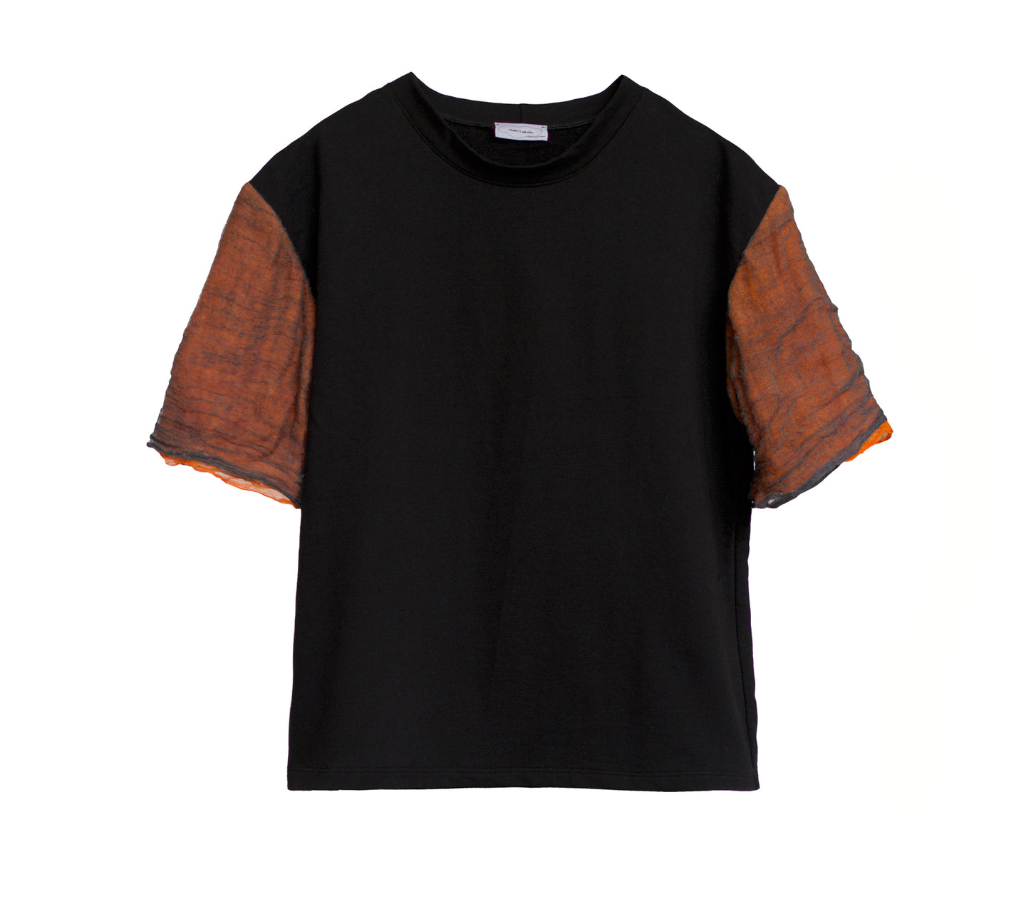 GAUZE Cotton Tee BLACK