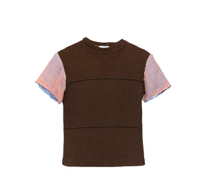 GAUZE Knit T-shirt BROWN