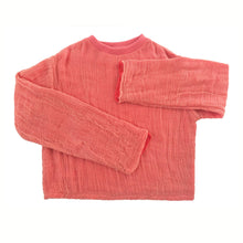 Load image into Gallery viewer, GAUZE sweatshirt CORAL RED