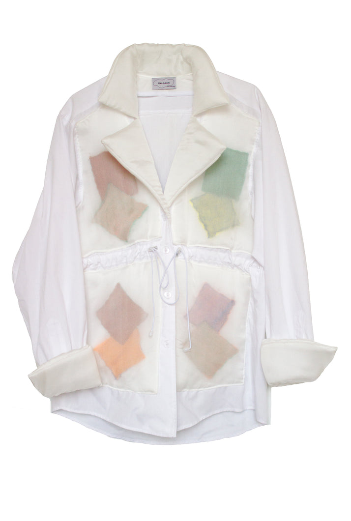 PILLOW shirt jacket WHITE