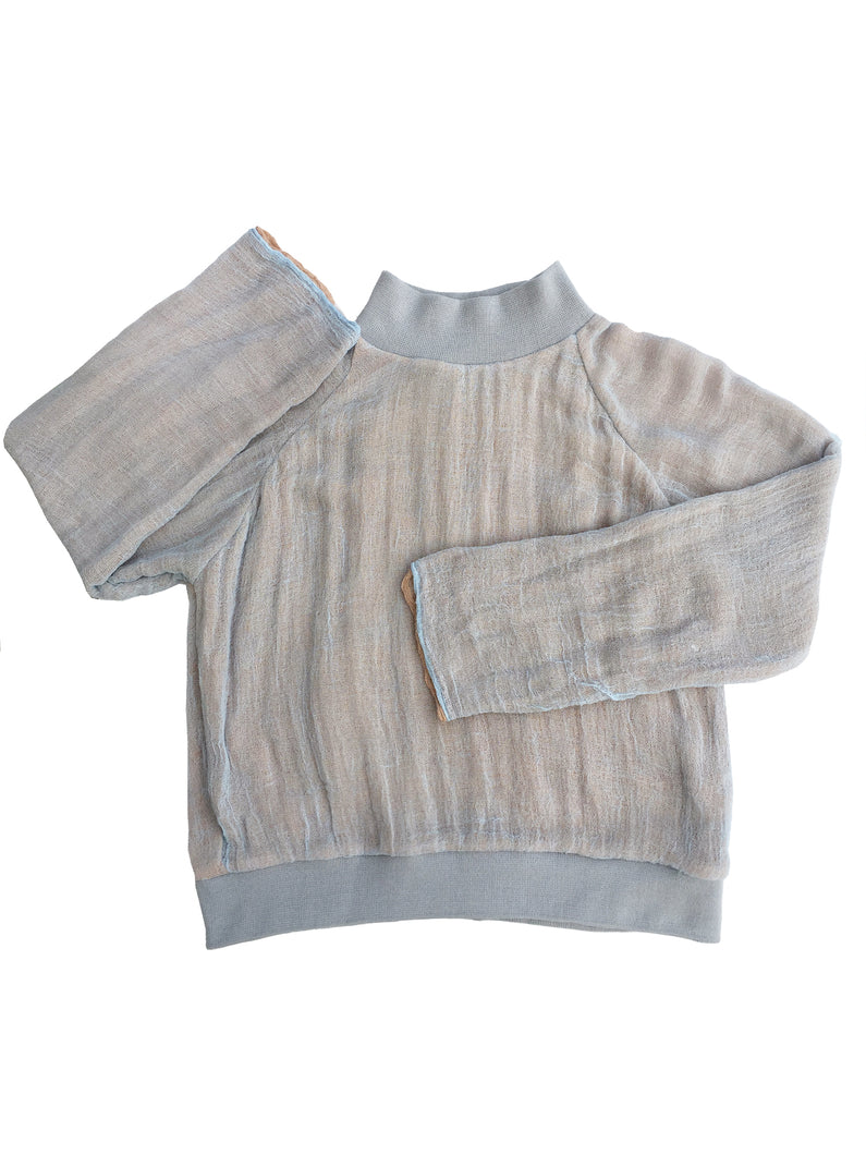 GAUZE sweatshirt  WARM GRAY