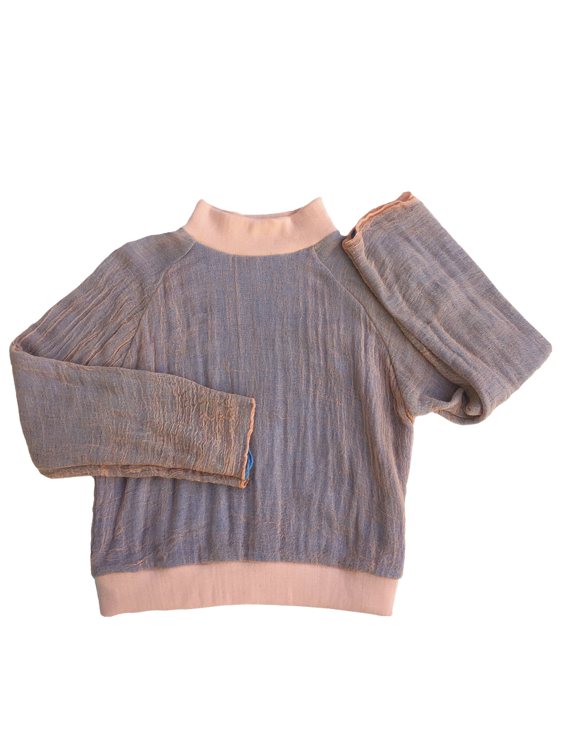 GAUZE sweatshirt  TEA ROSE