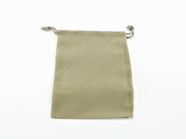 Grey Velour Dice Pouch (Small) CHX 02371