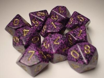 Hurricane: Speckled d10 Dice Set (10's) CHX 25117