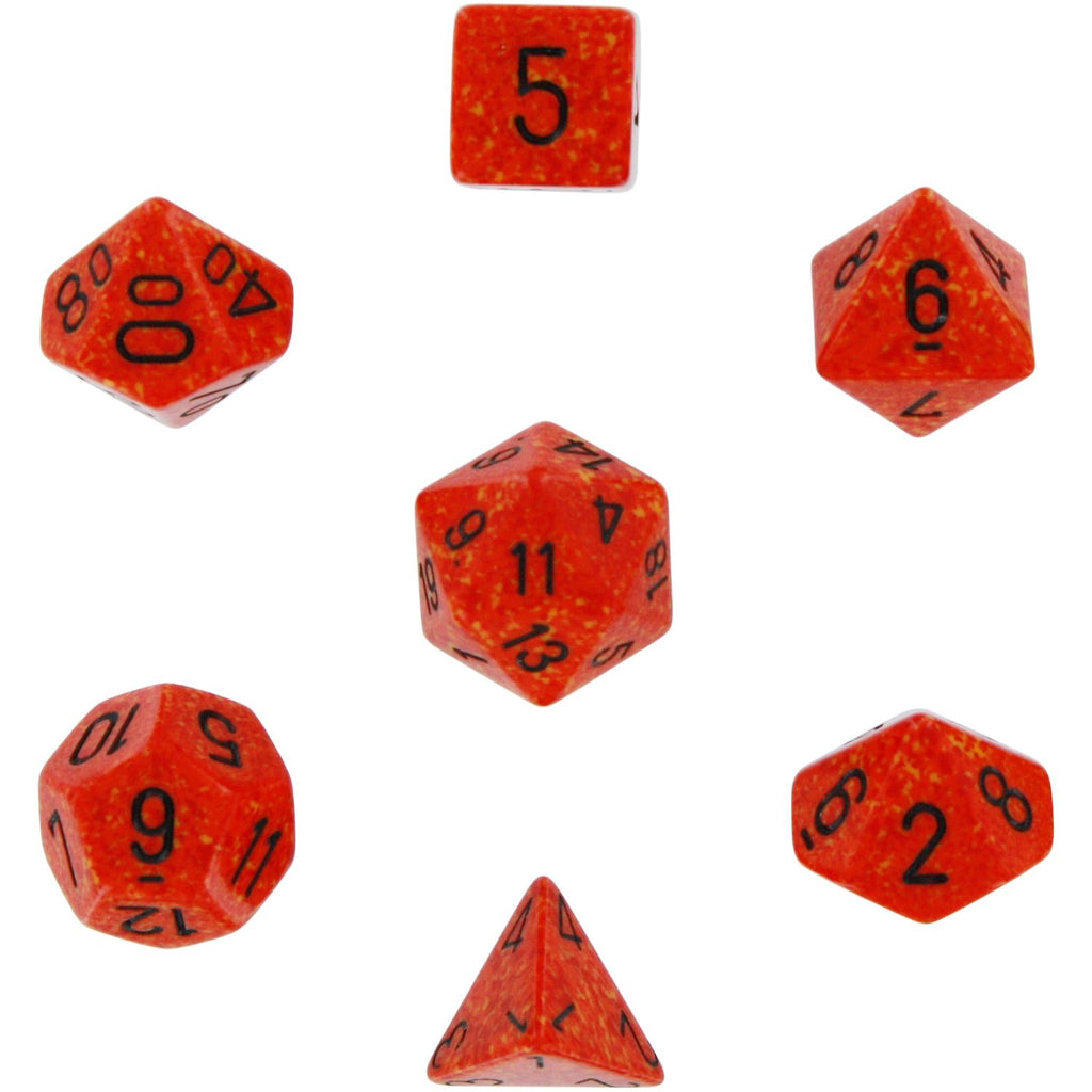 Fire: Speckled Polyhedral Dice Set (7's) CHX 25303