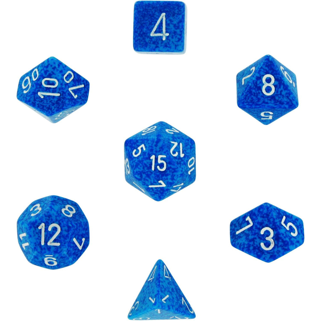 Water: Speckled Polyhedral Dice Set (7's) CHX 25306