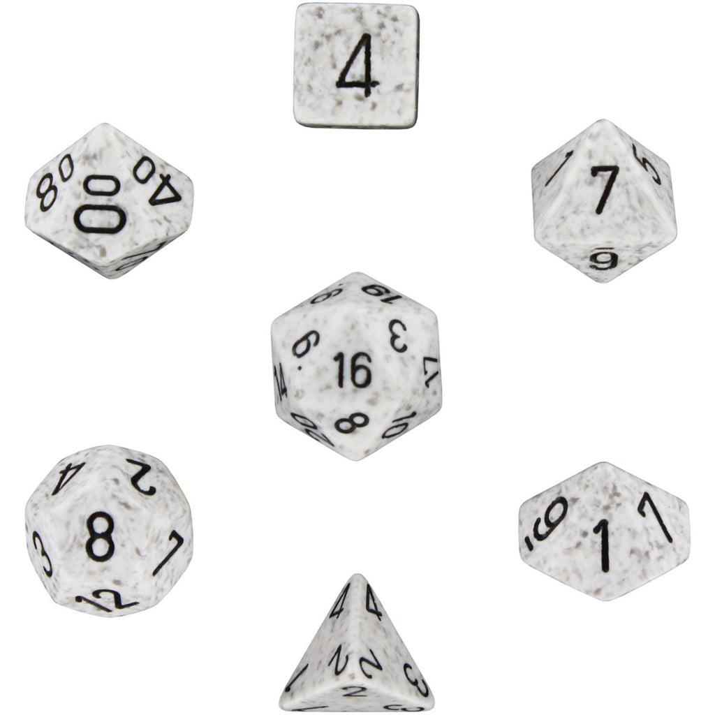 Artic Camo: Speckled Polyhedral Dice Set (7's) Set CHX 25311