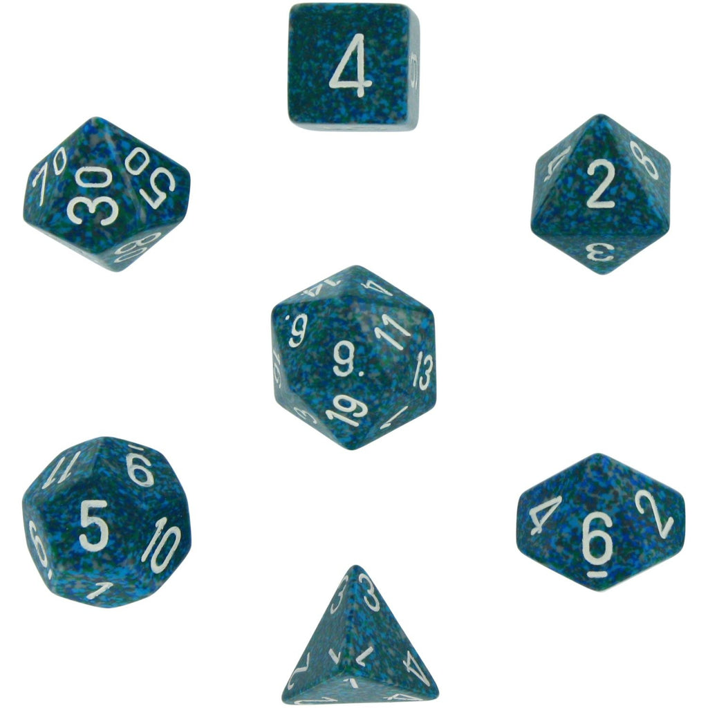 Sea: Speckled Polyhedral Dice Set (7's) CHX 25316