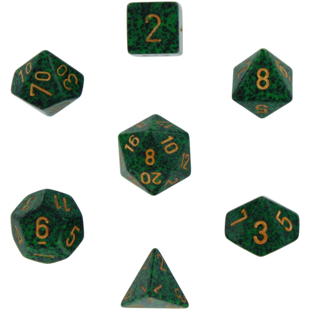 Golden Recon: Speckled Polyhedral Dice Set (7's) CHX 25335