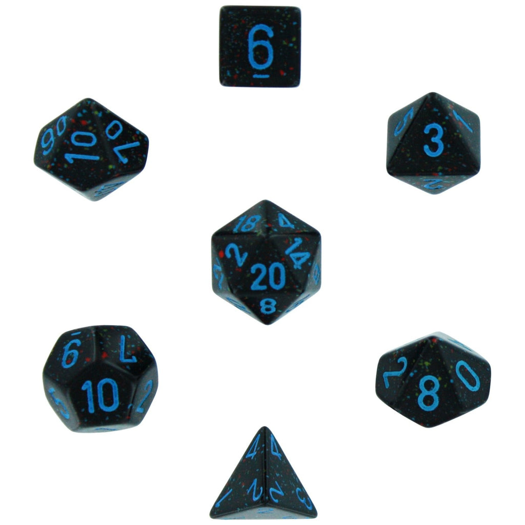 Blue Stars: Speckled Polyhedral Dice Set (7's) CHX 25338