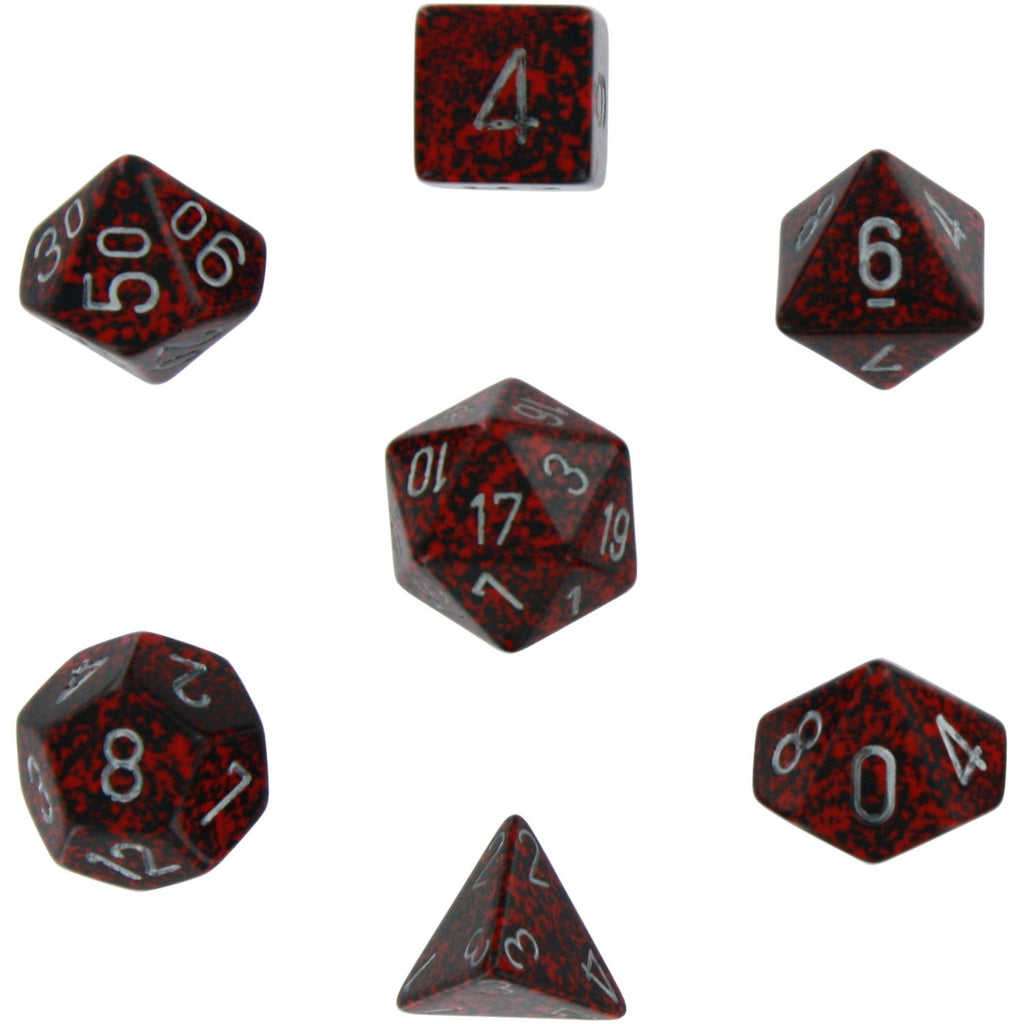 Silver Volcano: Speckled Polyhedral Dice Set (7's) CHX 25344