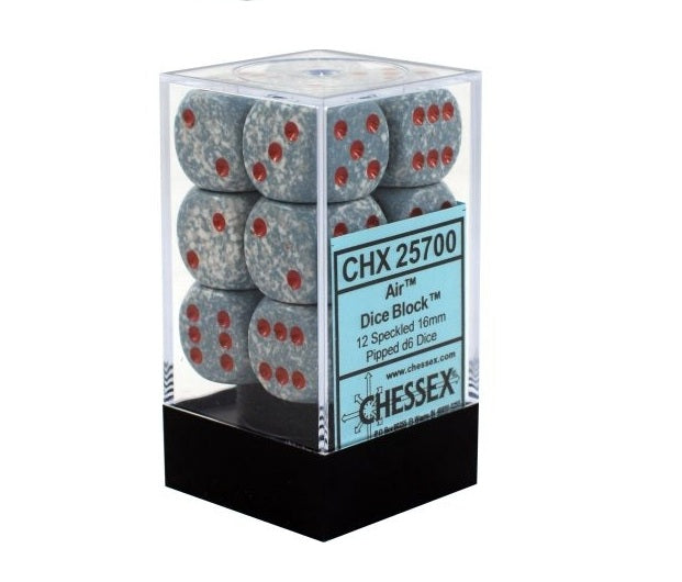 Air: Speckled 12d6 16mm Dice Set CHX 25700