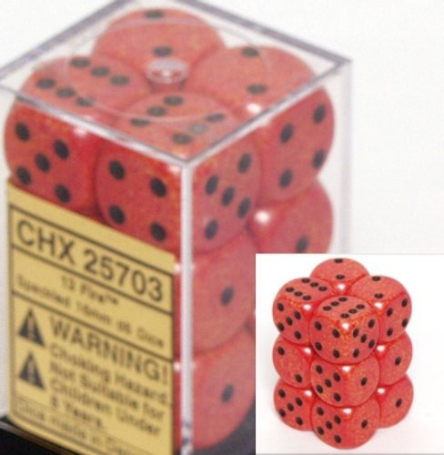 Fire: Speckled 12d6 16mm Dice Set CHX 25703