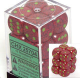 Strawberry: Speckled 12d6 16mm Dice Set CHX 25704