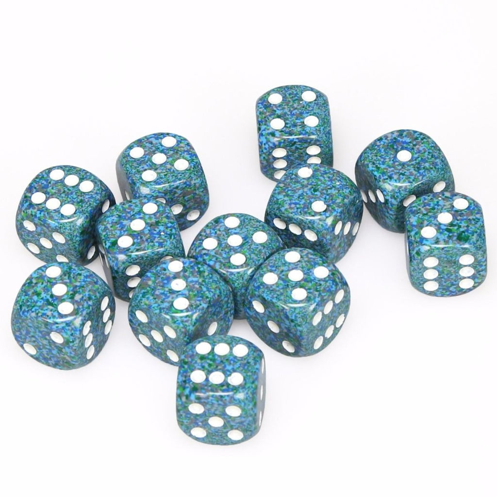 Sea: Speckled 12d6 16mm Dice Set CHX 25716