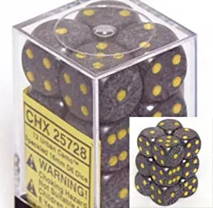 Urban Camo:  Speckled 12d6 16mm Dice Set CHX 25728