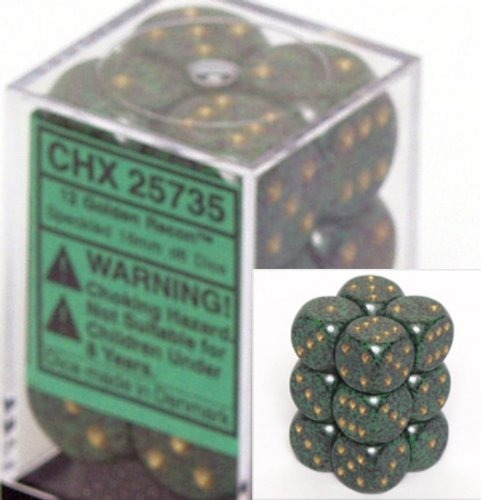 Golden Recon: Speckled 12d6 16mm Dice Set CHX 25735