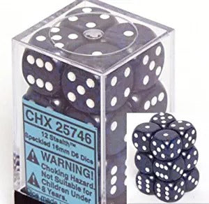 Stealth: Speckled 12d6 16mm Dice Set CHX 25746