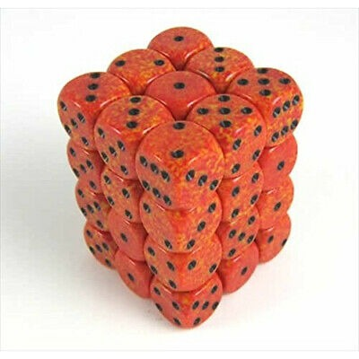 Fire: Speckled 36d6 12mm Dice Set CHX 25903