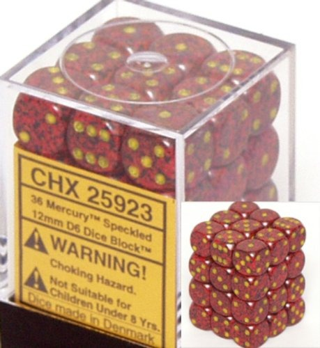 Mercury: Speckled 36d6 12mm Dice Set CHX 25923