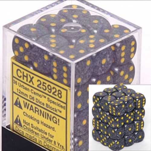 Urban Camo: Speckled 36d6 12mm Dice Set CHX 25928