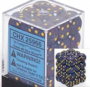 Twilight: Speckled 36d6 12mm Dice Set CHX 25966