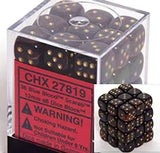 Blue Blood with Gold: Scarab 12d6 16mm Dice Set CHX 27819