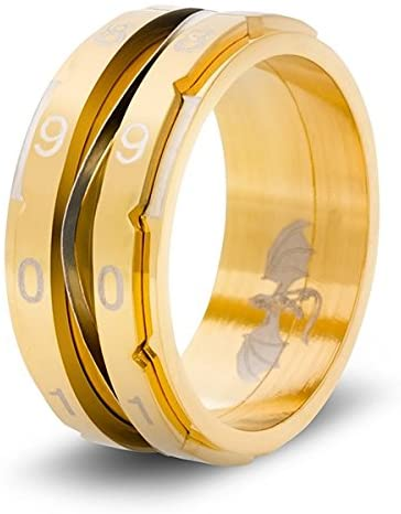 Clicking Life Counter Ring (Gold - Size 12): CritSuccess