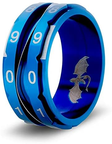 Clicking Life Counter Ring (Blue - Size 11): CritSuccess