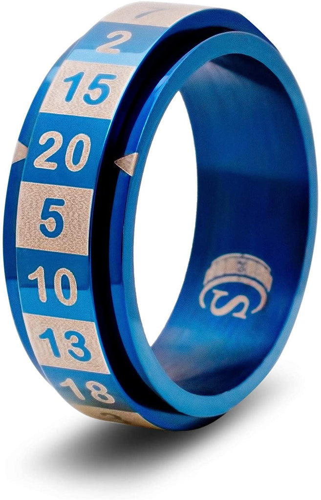 D20 Dice Ring (Blue - Size 06): CritSuccess