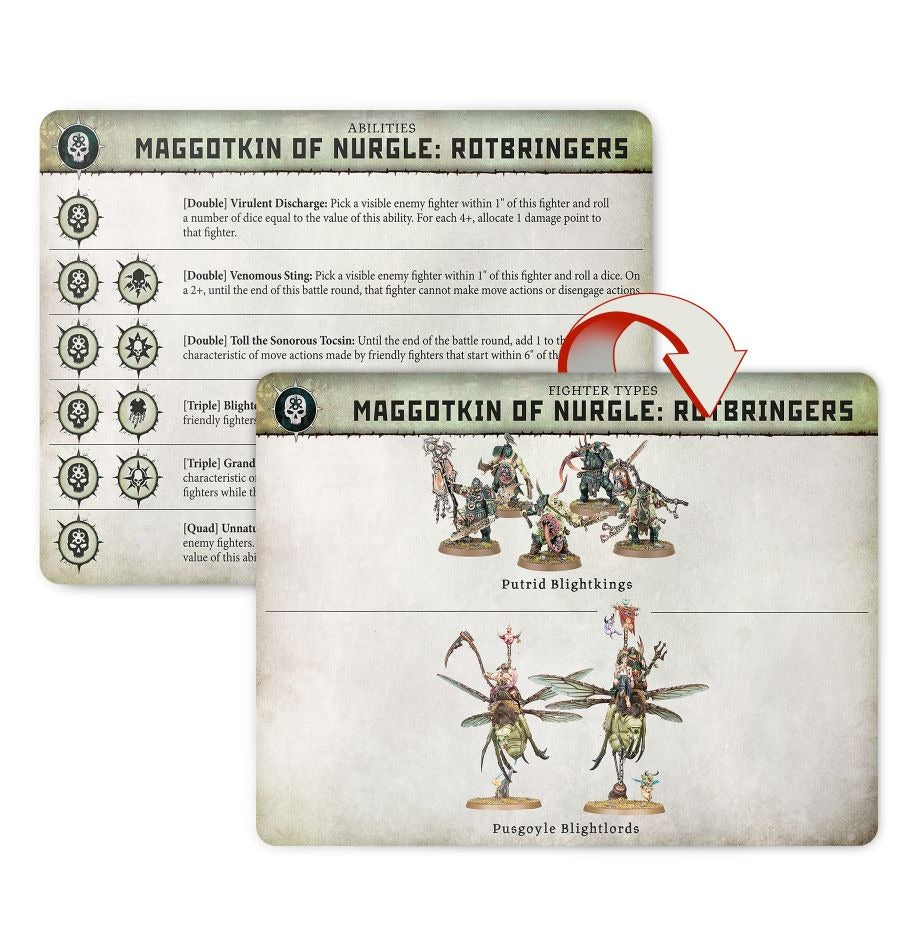 Maggotkin of Nurgle Rotbringers Cards: Warcry - Age of Sigmar GAW 111-56