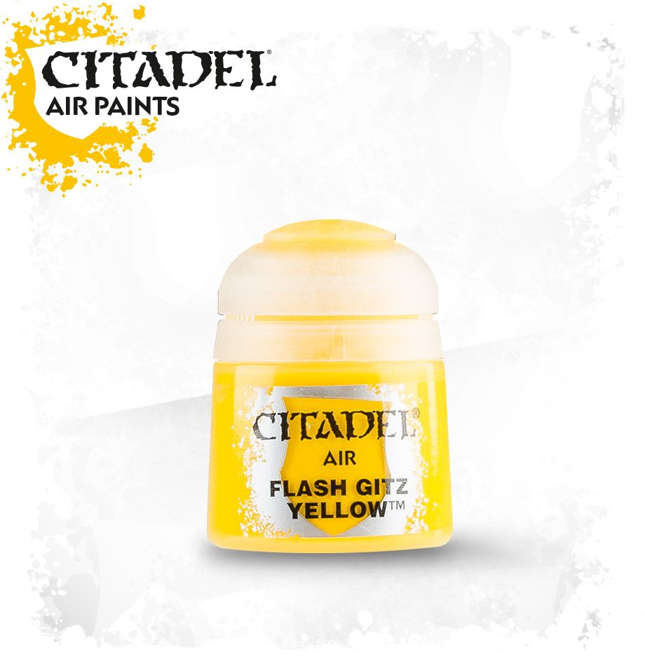 Flash Gitz Yellow: Citadel Air Paints GAW 28-20-S Tall Pot