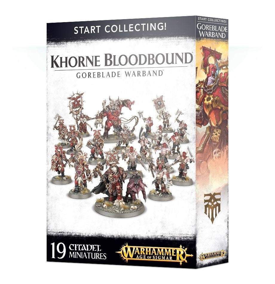 Start Collecting! Khorne Bloodbound, Goreblade Warband GAW 70-81