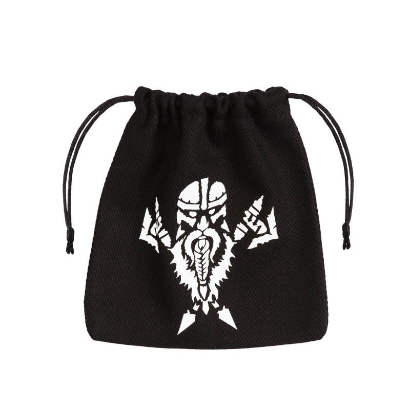 Dwarven Black & White Dice Bag QWS BDWA103
