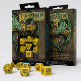 Celtic 3D Revised Yellow & Black Dice Set (7) QWS SCER13