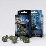 Classic RPG Olive & White Dice Set (7) QWS SCLE1C