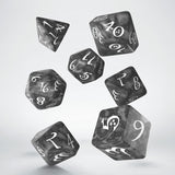Classic RPG Smoky & White Dice Set (7) QWS SCLE78