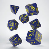 Galactic Navy & Yellow Dice Set (7) QWS SGAL45