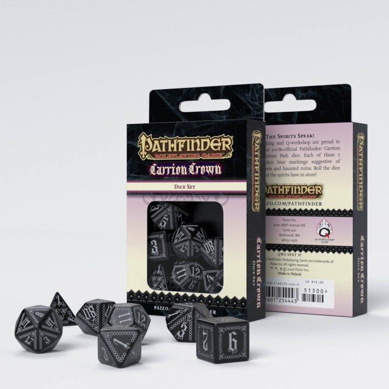 Pathfinder Carrion Crown Dice Set (7) QWS SPAT37