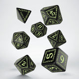 Runic Black & Glow-in-the-Dark Dice Set (7) QWS SRUN19