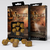 Steampunk Brown & Yellow Dice Set (7) QWS SSTE32