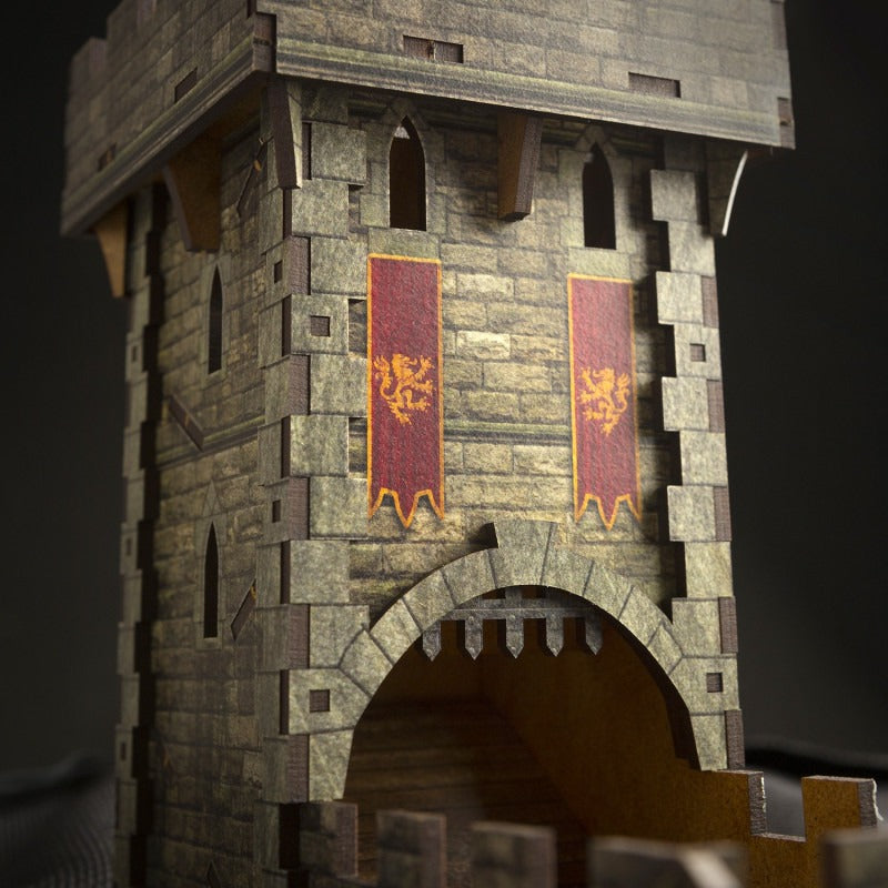 Medieval Color Dice Tower QWS THUM102